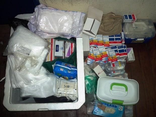 Material apreendido na clínica de aborto (Foto: Divulgação/Pcerj)