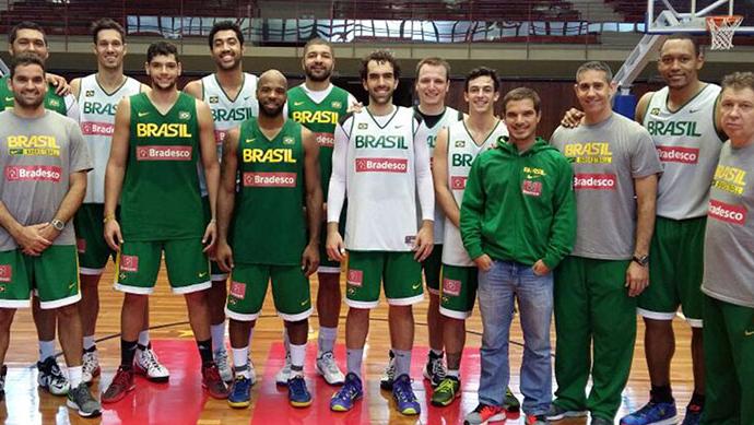 seleção masculina basquete jogos pan-americanos de toronto (Foto: Divulgação/CBB)