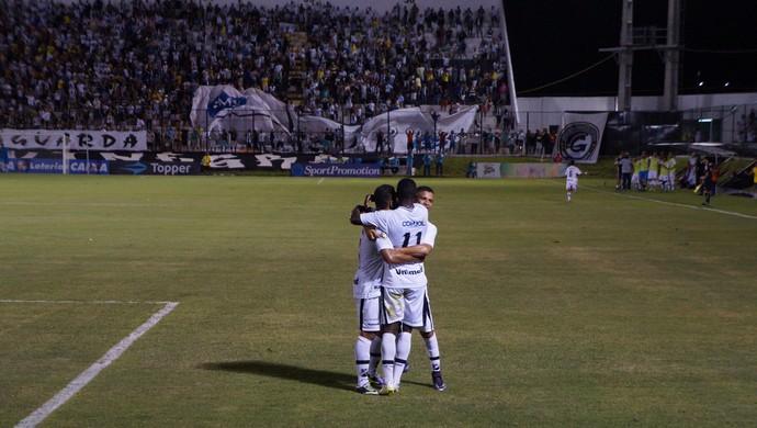 Comemoração Jones Carioca ABC x América-RN Estádio Frasqueirão Série C (Foto: Fabiano de Oliveira)