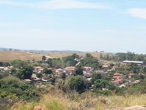 Vista de Serra da Saudade (Foto: Anna Lúcia Silva/ G1)