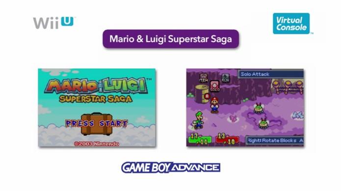 Mario & Luigi Superstar Saga será um dos jogos de GameBoy Advance para Wii U (Foto: Reprodução)