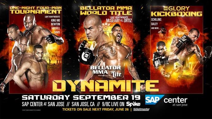pôster evento misto Bellator Glory MMA (Foto: Reprodução/Twitter)