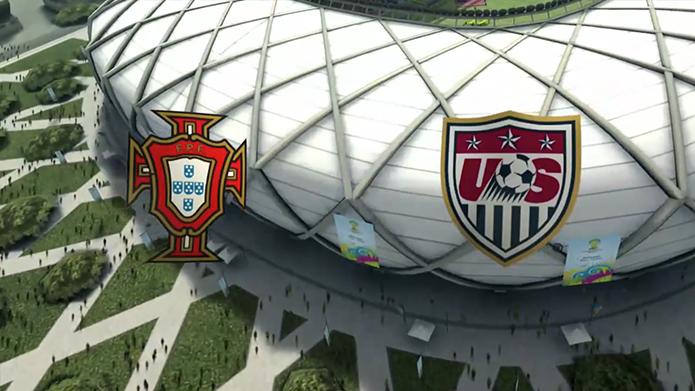Simulação Copa do Mundo Fifa 2014: Portugal x Estados Unidos (Foto: Reprodução/Murilo Molina)