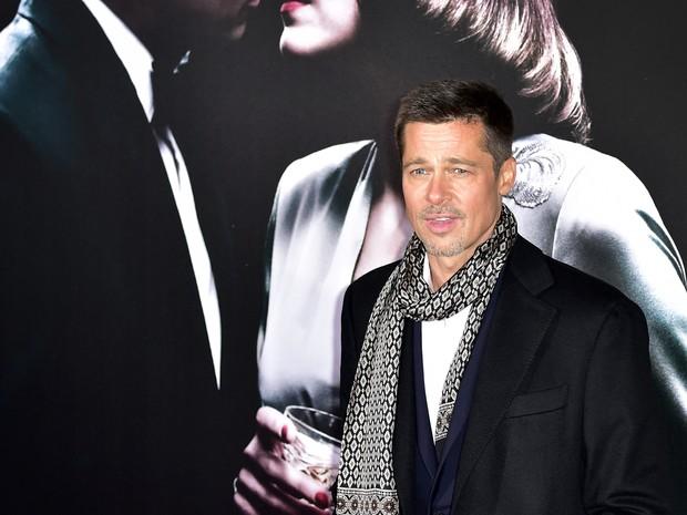 Brad Pitt em première de filme em Madri, na Espanha (Foto: Gerard Julien/ AFP)