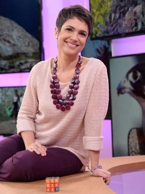 Sandra Annenberg entrevista especialistas no Como Será? (Foto: Globo/Zé Paulo Cardeal)