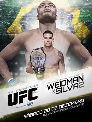pôster cartaz UFC 168 (Foto: Divulgação)