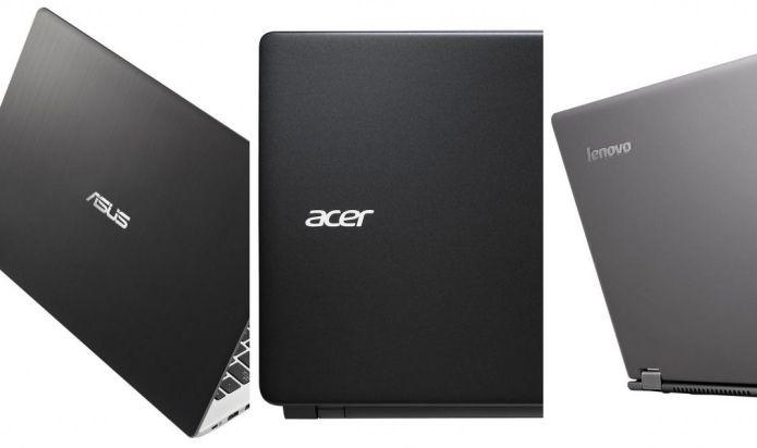 ASUS, Acer e Lenovo mostram o avanço de notebooks asiáticos no Brasil (Foto: Divulgação)
