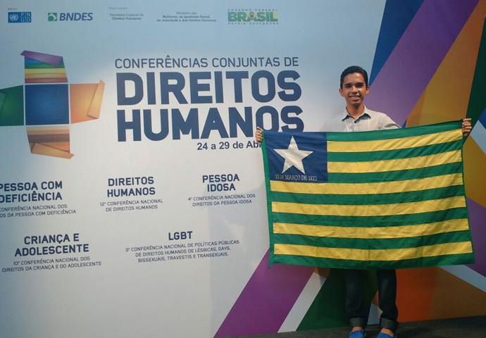 Boa da Semana: Para o Antônio Nogueira, a boa foi representar o Piauí em Brasília na Conferência dos Direitos Humanos (Foto: Arquivo pessoal)