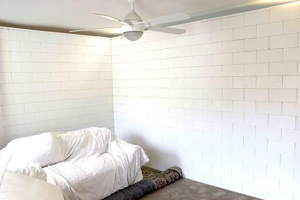Olha que legal, esta parede foi feita com os blocos de montar EverBlock (Foto: Divulgação)