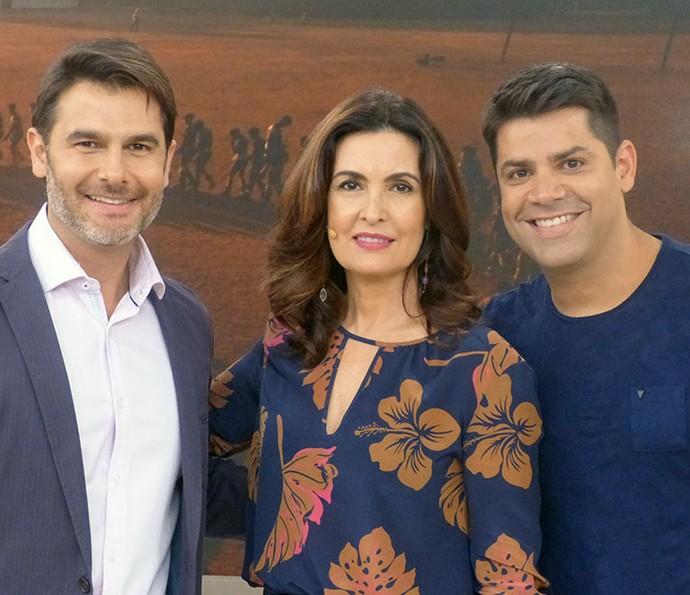 Dr. Fernando Gomes Pinto com a Fátima e o Lair Rennó (Foto: Vinícius Cunha/Gshow)