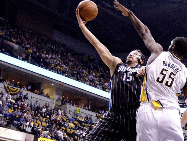 basquet nba hedo turkoglu orlando magics roy Hibbert indiana pacers (Foto: Agência AP)