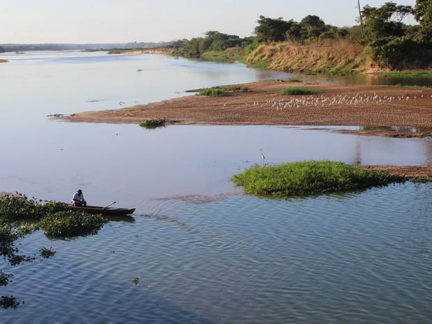 Encontro dos rios Parnaíbas e Poti (Foto: Catarina Costa/G1)