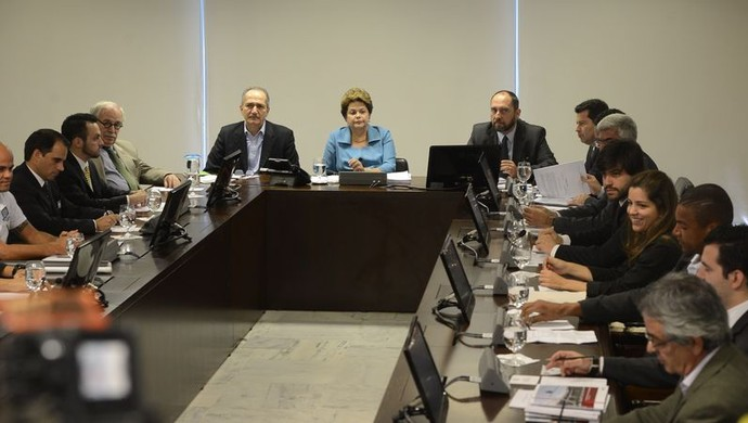 Dilma se reúne com representantes do Bom Senso (Foto: Valter Campanato/Agência Brasil)