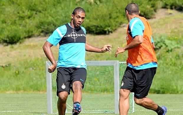 Juan no treino do Inter de Milão (Foto: Divulgação)
