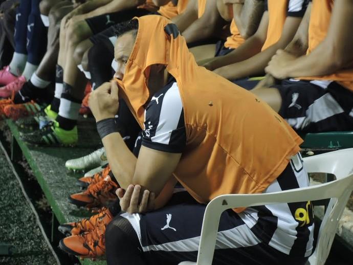 Lulinha com insetos Botafogo x Luversense (Foto: Gustavo Rotstein)