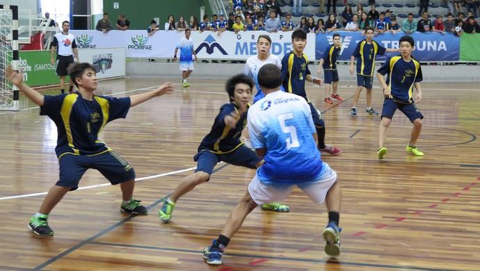 Final masculina da série ouro da Copa TV Tribuna de Handebol Escolar (Foto: Ivair Vieira Jr)