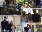 Adriana Sant'Anna ganha festa surpresa de Rodrigão e comemora