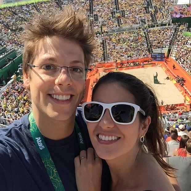 Fabio Porchat e a namorada, Nataly Mega (Foto: Instagram / Reprodução)