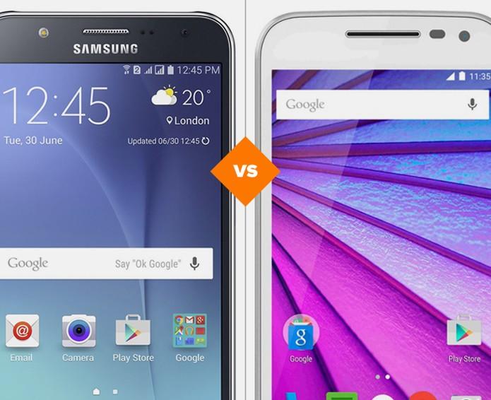 2c7103f5c Galaxy J7 ou Moto G 3  comparativo faz avaliação de ficha técnica (Foto