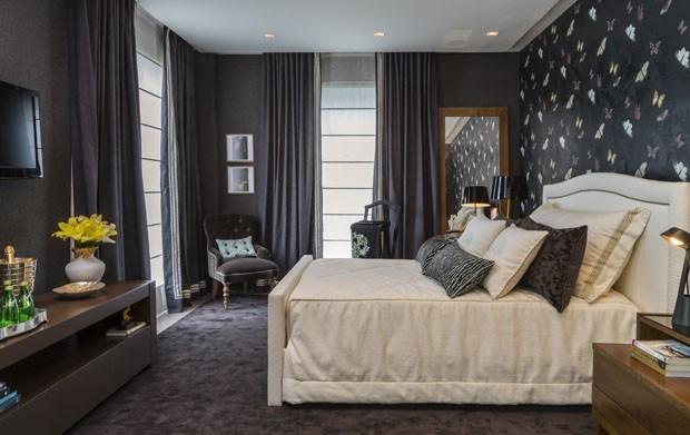 Decoração 12 quartos pretos e elegantes Casa Vogue  ~ Quarto Rosa E Preto