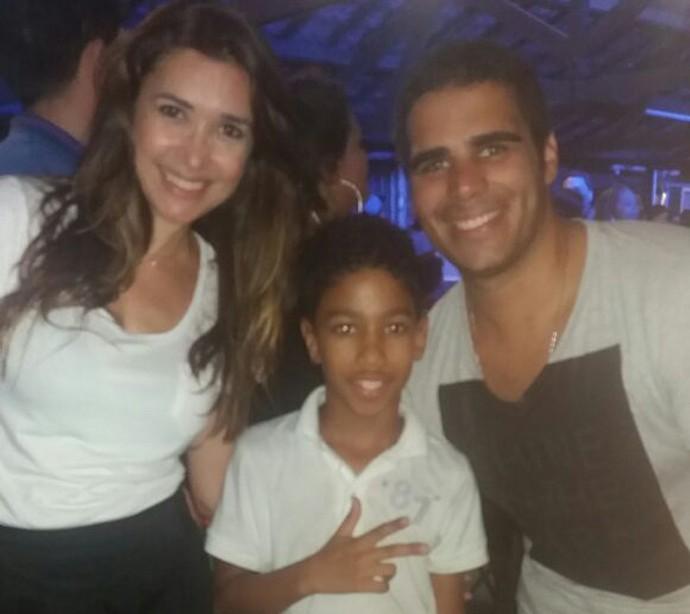 Boa da Semana: Para o Cauá Felipe a boa foi encontrar com Simone e Helder no último fim de semana (Foto: Arquivo pessoal)