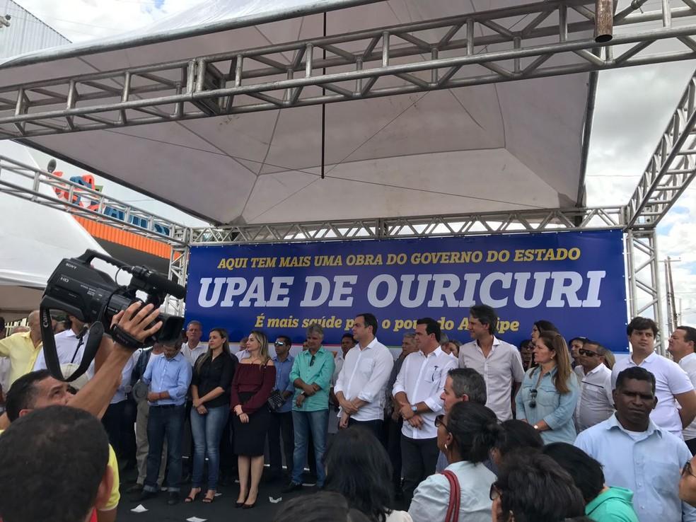 Governador Paulo Câmara inaugura UPAE em Ouricuri  (Foto: Paulo Ricardo Sobral/ TV Grande Rio)