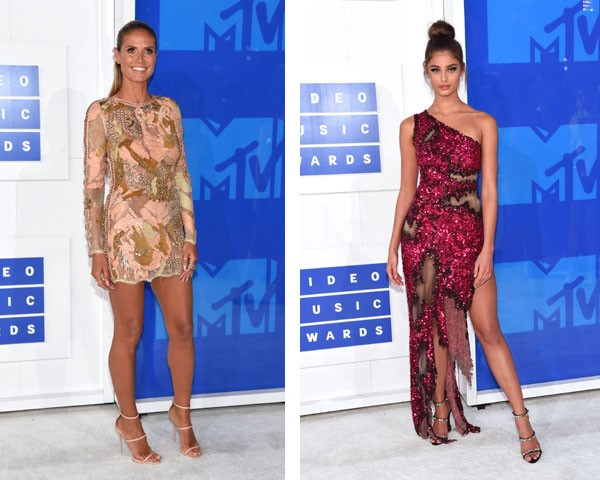 Cores: Heidi Klum e Taylor Hill (Foto: Getty Images)
