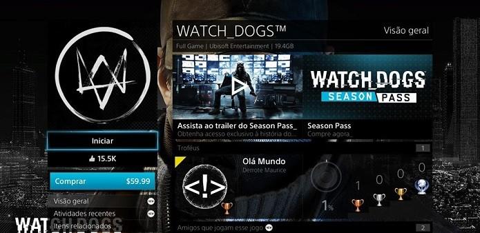 Watch Dogs foi lançado no dia 27 de maio (Foto: Thiago Barros/Reprodução)