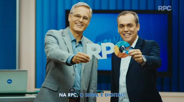 Parracho e Sandro participaram do jingle sobre TV Digital (Foto: Reprodução/RPC)
