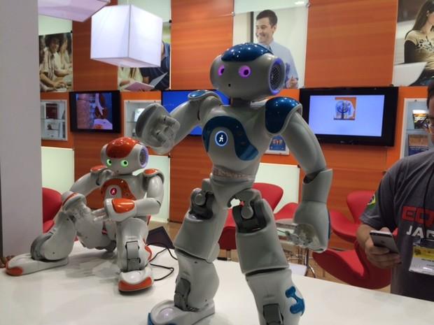 Robô interage, conta histórias e dança (Foto: Cristina Boeckel / G1)