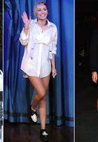A moda é... Sair sem calça! Tendência faz sucesso com Miley Cyrus e outras