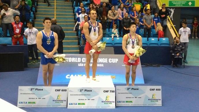 Diego Hypolito prata no solo copa do mundo de ginástica SP (Foto: Vini Marins)