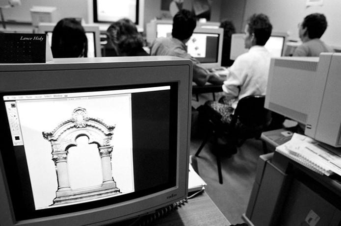 Prévia da criação do Photoshop nos estúdios da Adobe em 1989 (Foto: Divulgação/Adobe)