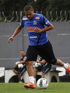 Adriano em treino do Santos (Foto: Ricardo Saibun / Divulgação Santos FC)