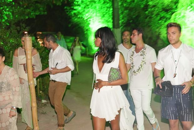 Naomi Campbell na festa do Taípe, em Trancoso (Foto: Divulgação)