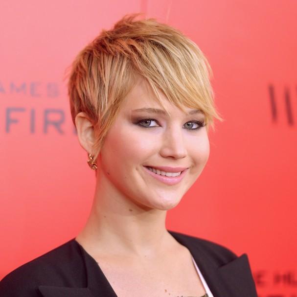 Jennifer Lawrence e seu famoso pixie (Foto: Getty Images)