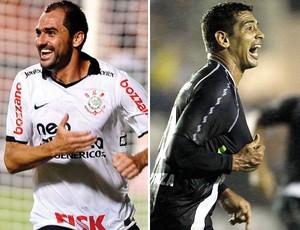 Danilo, Diego Souza, Corinthians x Vasco (Foto: Editoria de arte / Globoesporte.com)