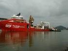 Navio sofre pane na Baía de Vitória