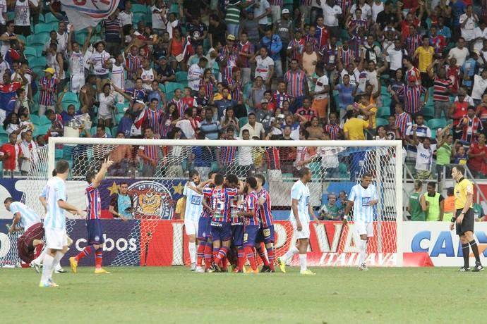 Gol do Bahia - Bahia x Macaé - Campeonato Brasileiro Série B 2015 (Foto: Tiago Ferreira/Macaé)