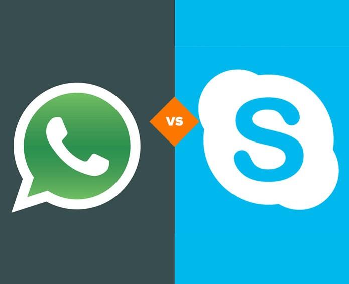 WhatsApp ou Skype? Qual o melhor mensageiro na Web? (Foto: Arte/ TechTudo)