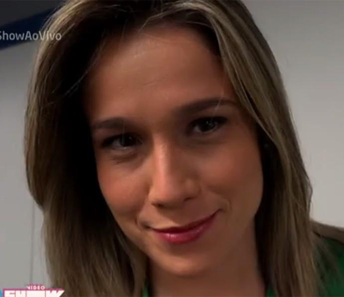Fernanda Gentil mostra os bastidores do Vídeo Show (Foto: Vídeo Show / Gshow)