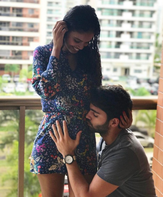 Aline Dias e o namorado, Rafael Cupello (Foto: Reprodução/Instagram)