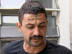 Pedreiro foi atropelado ao tentar salvar amiga da filha (Foto: Reprodução/TV Tribuna)