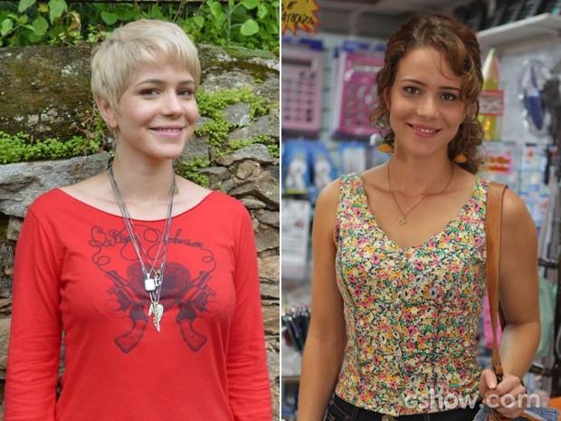Visual de Leandra Leal mudou bastante desde Saramandaia, à esquerda (Foto: Saramandaia/Império/TV Globo)