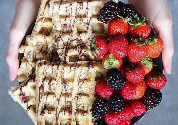 Waffle saudável no Whole Foods (Foto: Instagram/Reprodução)