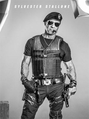 Sylvester Stallone em pôster de 'Os mercenários 3' (Foto: Divulgação)