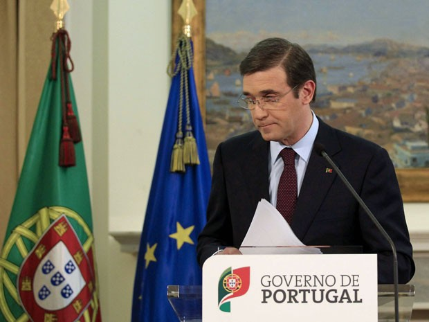 Primeiro ministro de Portugal Pedro Paulo Passos no Palácio de São Bento em Lisboa (Foto: José Manoel Ribeiro/ Reuters)