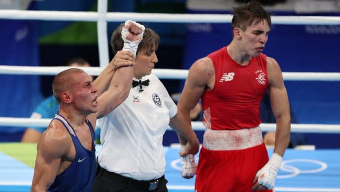 Resultado polêmico deixou Michael Conlan resoltado (Foto: Jason Getz-USA TODAY Sports)