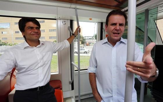 O deputado federal Pedro Paulo e o prefeito do Rio, Eduardo Paes (Foto: Divulgação)