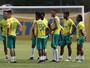 Eduardo Baptista comanda primeiro treino tático do ano no Palmeiras